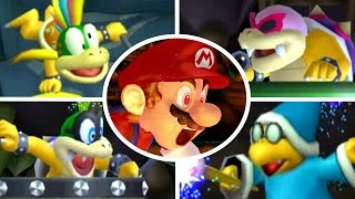 New Super Bowser Wii - All 19 Boss Fights (All Tower, Castle & Airship Bosses)