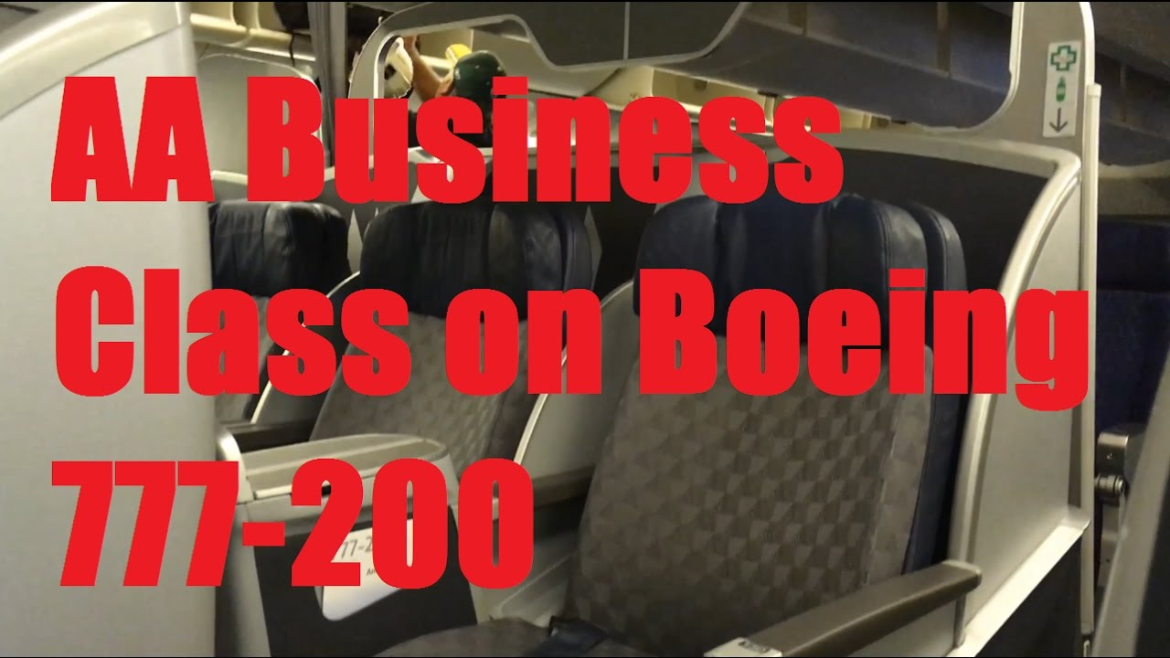 American Airlines Aa Business Class On Boeing 777 200