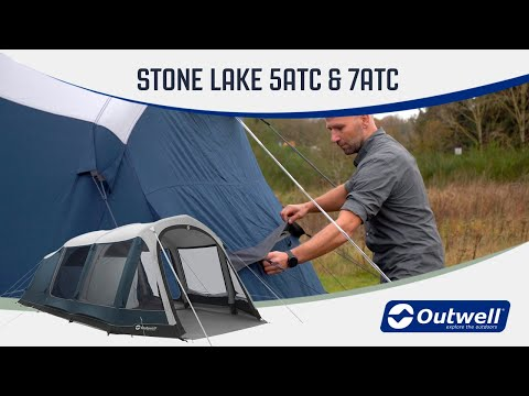 Outwell Stone Lake 5ATC & 7ATC - Inflatable Polycotton Air Tent (2020) | Innovative Family Camping