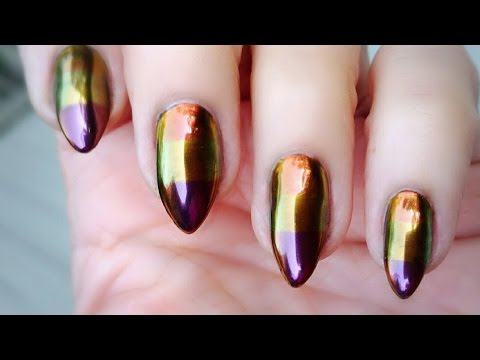 3 Color Chrome Nail Design Tutorial Aora Chromes Youtube