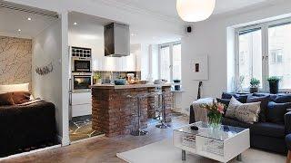 видео Дизайн однокомнатной квартиры для семьи с ребенком: идеи интерьера, варианты зонирования и расстановки мебели с фото