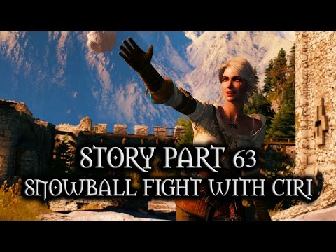 The Witcher 3: Wild Hunt - Story - Part 63 - Snowball fight with Ciri