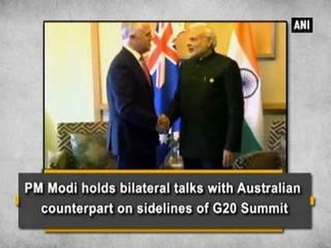 PM Modi holds bilateral talks with Australian counterpart on sidelines of G20 Summit - ANI News
