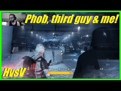 Star Wars Battlefront - Getting the band back together! | Phobia, Third guy & Me! (HvsV) (Xbox)