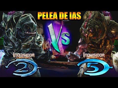 INQUISIDOR de Halo 2 VS INQUISIDOR de Halo 5 | PELEA de IAS