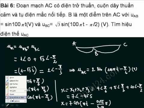 Sử dụng máy tính để giải bài toán điện xoay chiều 6