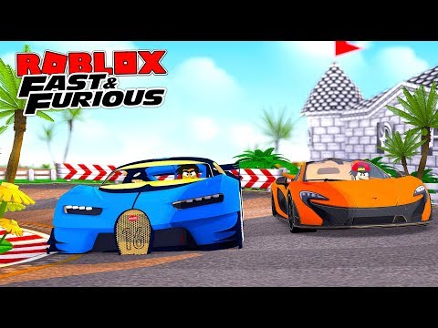 ROBLOX FAST AND THE FURIOUS!! - ROPO AND DONUT DO SOME ILLEGAL STREET RACING IN THEIR