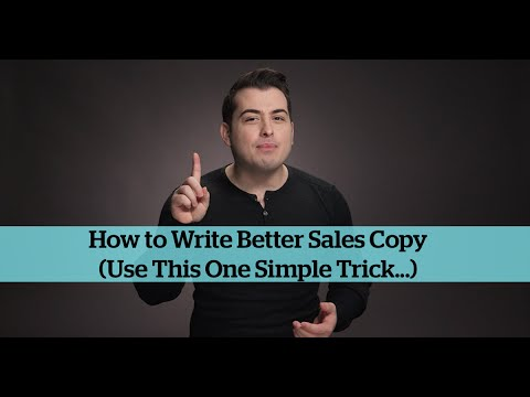 How To Write Better Sales Copy Use This One Tip Youtube