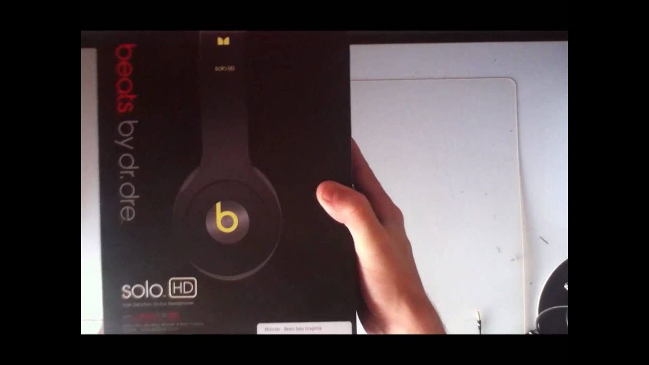 beats by dre solo hd unboxing graphite black and yellow