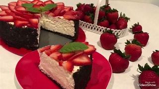 Qlubnayli cheesecake  клубничный чизкейк  strawberry cheesecake