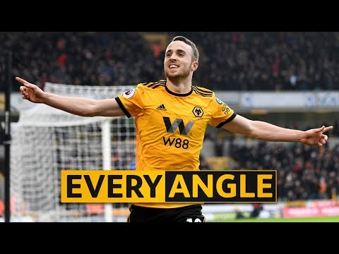 Jota's second goal v Leicester City | Every Angle