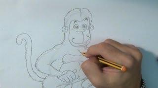 Aprende a dibujar un mono - How to draw a monkey
