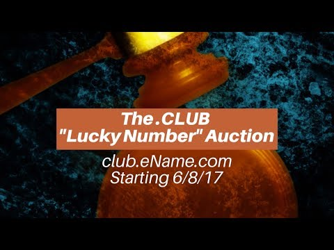 """.CLUB """"Lucky Number"""" Auction on eName in China"""