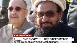 Breaking News: Palestine envoy to Pakistan shares stage with Hafiz Saeed