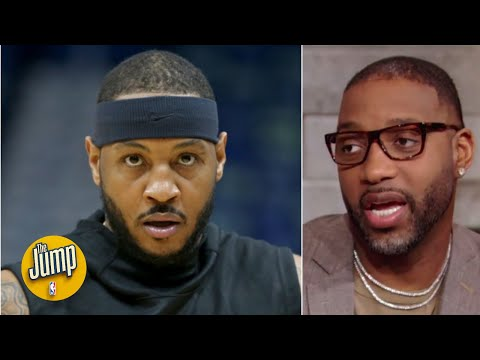 Tracy McGrady predicted Melo would fit on the Blazers all the way back in January | The Jump