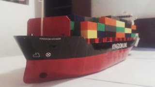 Construction of a cardboard containership