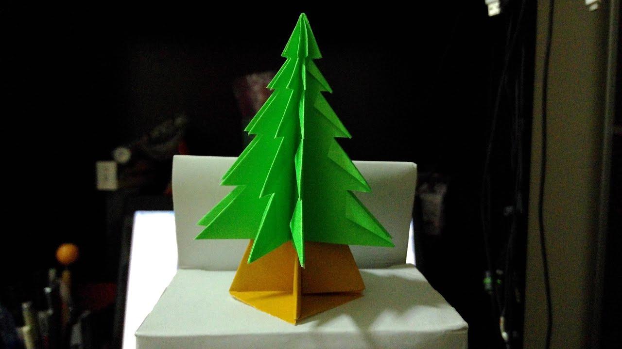 ������� origami christmas tree youtube