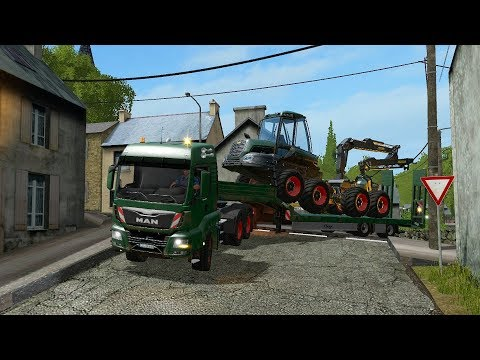 Farming Simulator 17 - Forestry and Farming on The Valley The Old Farm 101 thumbnail