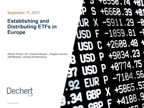 Establishing and Distributing ETFs in Europe