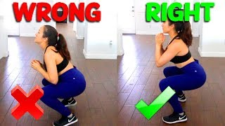 How To Squat Properly! | The Right And Wrong Way To Do Squats!!!