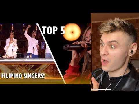 TOP 5 Most AMAZING FILIPINO SINGERS EVER ON X FACTOR UK! / REACTION