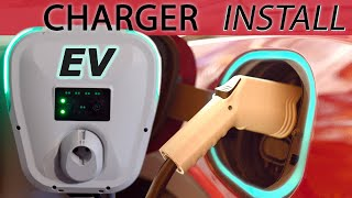 Electric Car Level 2 (240 Volt) Charger Installation, Chevy Bolt EV