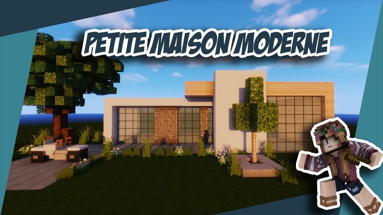 Minecraft: Tuto petite maison moderne ULTRA SIMPLE - YouTube