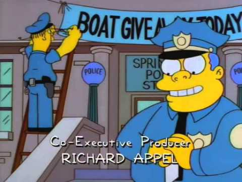 The simpsons police raffle boat sting youtube - Police simpsons ...