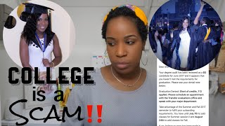 College is a SCAM | DON'T GO TO COLLEGE IN NYC | This might happen to you too!!!