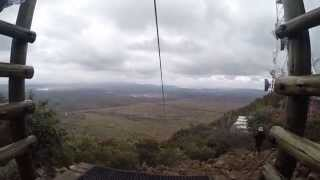 Flying on the fastest zip-line in the world!