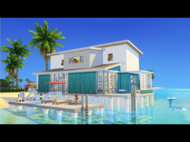 Sims 4 | House Building | Colorful Beach House (Island Living Expansion Pack)