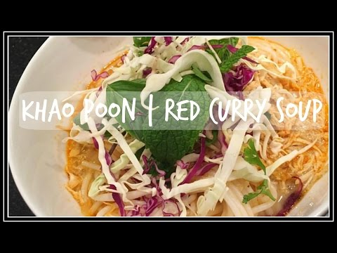 How to make KAPOON, KHAO POON | Red Curry Noodle Soup | House of X Tia | Lao Food
