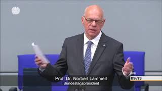 Abschiedsrede von Norbert Lammert im Bundestag