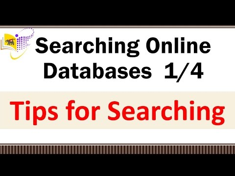 Searching Online Databases  (1/4)