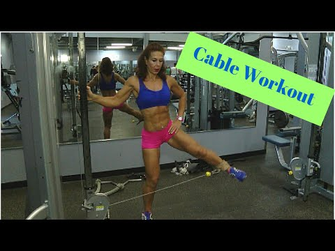Manuela Ioana Nemes, ACE Personal Trainer: Cable Workout for Legs - World Gym Cayman Islands