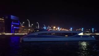 Dubai Canal Boat Passing
