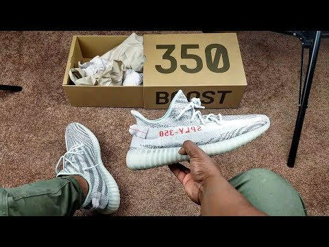 """I'M NOT SELLING THESE!!! YEEZY V2 """"BLUE TINT"""" ON FEET!!!"""