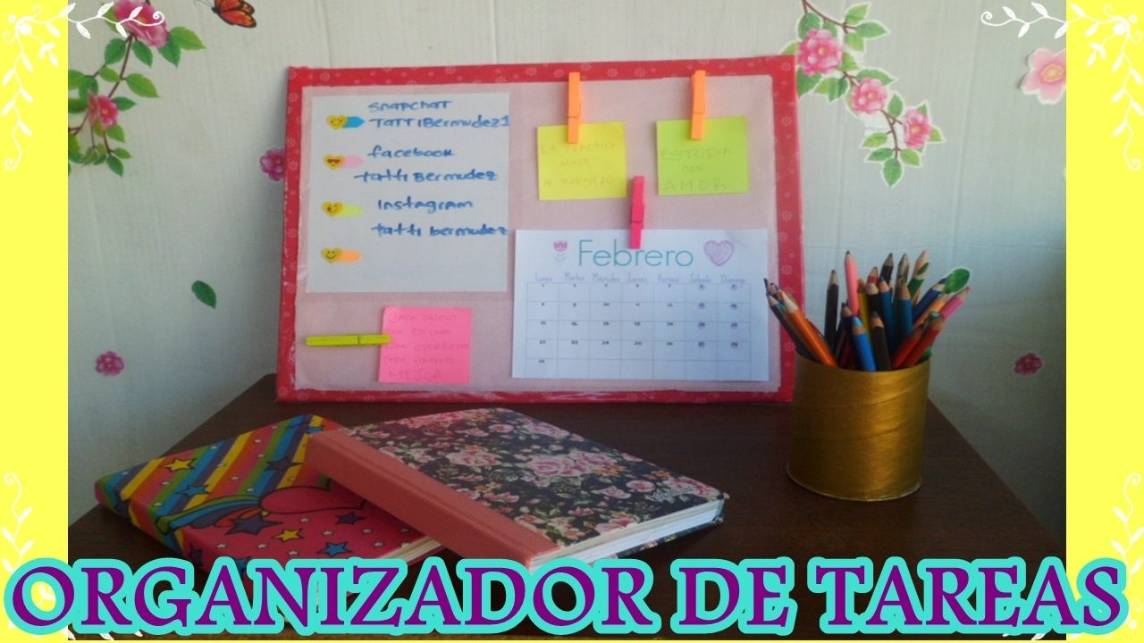 Diy organizador de tareas super cool youtube - Tablero escritorio ...