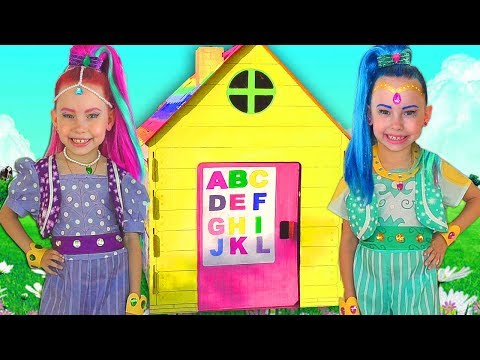 Shimmer and Shine Pretend Play Building Playhouse for kids
