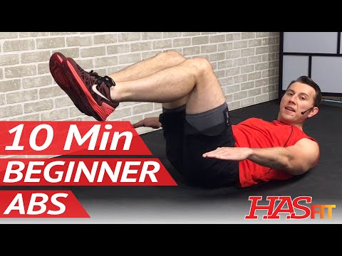 10 Minute Abs Workout for Beginners 10 Min Easy Beginner Ab Workout for Women & Men at Home