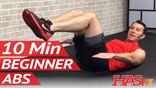 10 Minute Abs Workout for Beginners - 10 Min Easy Beginner Ab Workout for Women u0026 Men at Home