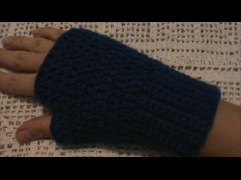 Guantes sin Dedos En crochet - YouTube