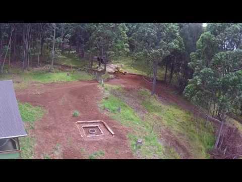 Drone video: Gordon grading the runoff ditch