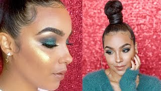 Green Bombshell FALL Makeup Tutorial | Fenty Beauty, Hue Noir, ABH and More