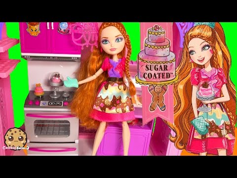 Ever After High Sugar Coated Holly O'Hair Daughter Of Rapunzel Doll + Cookieswirlc Fan Blind Bags