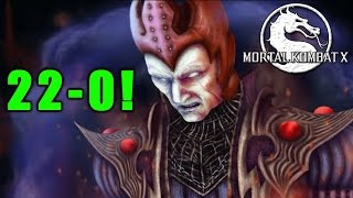 HE IS 22-0! (Mortal Kombat X) Online Gameplay Can I Ruin His Record? (60FPS)