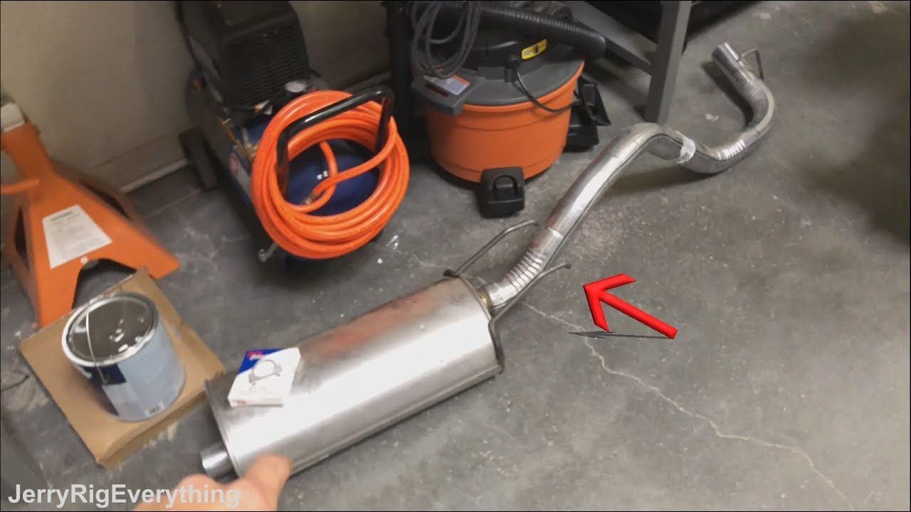 toyota tacoma muffler replacement 1995 2004 easy fix