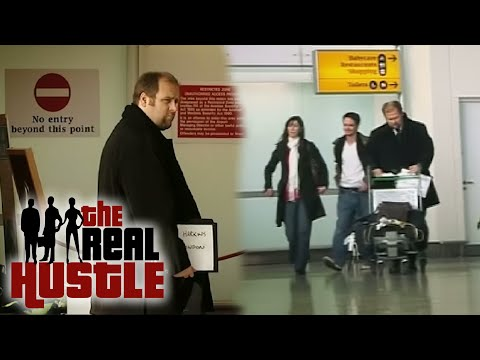 Funny prank baggage check at event