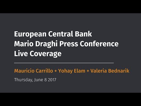 Is Europe doing well? ECB rate decision and live coverage of Mario Draghi speech