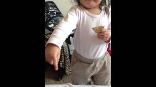 Mya Snacking On Gluten Free Crackers